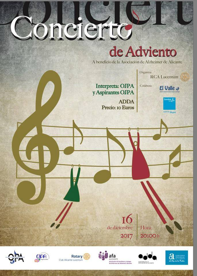 concierto ADDA asociación Alzheimer Alicante